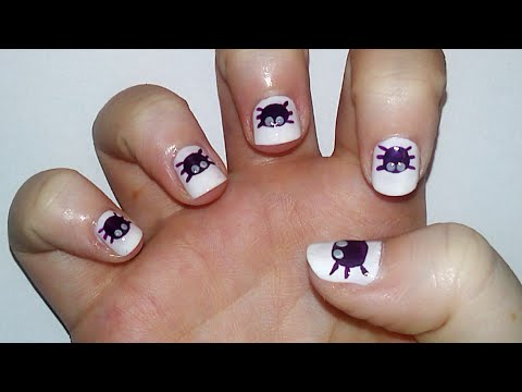 Cute Halloween Nail Art Tutorial Samantha Beauty Youtube