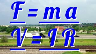 Equations 01; F = m a & V = I R - Physics - Science - Succeed In Your GCSE