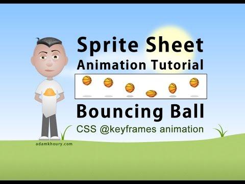 Sprite Sheet Animation Steps CSS Program Bouncing Ball Tutorial