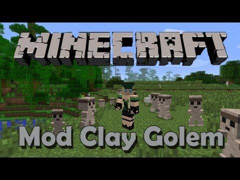 Minecraft - Mod Clay Golem