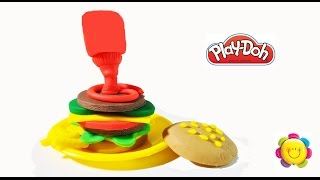 Gravity Defying Burger Play Doh Double Cheeseburger Cooking Games With Play Doh Show