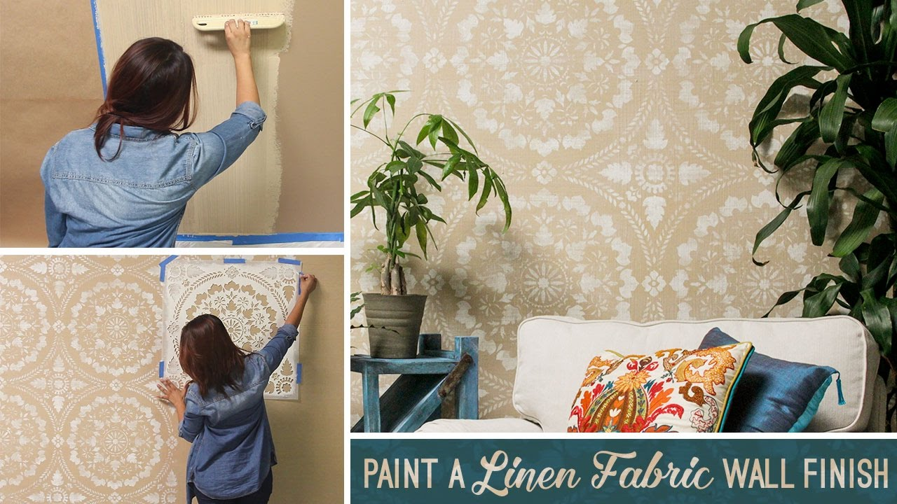 How to stencil paint a textured linen fabric wall finish with how to stencil paint a textured linen fabric wall finish with joint compound amipublicfo Gallery