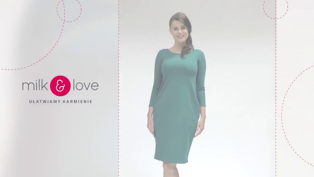 952e39c1010d3c milk & love   Sukienka do karmienia piersią   butelkowa zieleń   Milky Way