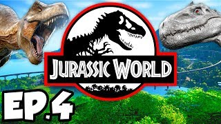 Jurassic World: Evolution Ep.4 - DINOSAURS ESCAPE & PHOTOGRAPHING DINOSAURS! (Gameplay / Let