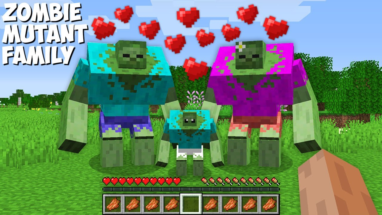Why you YOU SHOULDN'T APPROACH the FAMILY OF MUTANT ZOMBIES in Minecraft ? ZOMBIE MUTANT !
