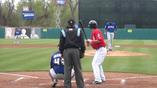 Bryce Harper 1st AAA homerun - April 22, 2012
