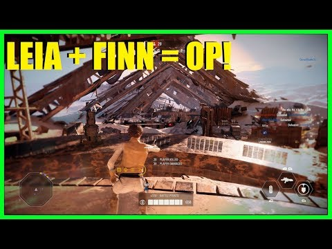 Star Wars Battlefront 2 - The best duo ever! Nice Leia and Finn killstreaks!