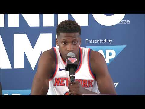 Best of Frank Ntilikina Interview | New York Knicks Media Day | MSG Networks