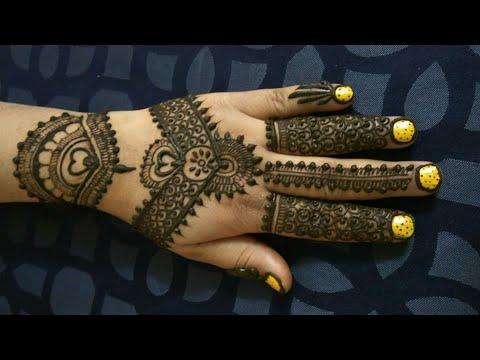 Back side henna designed
