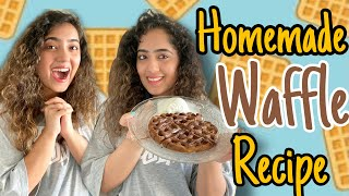 WE TRIED NANI's WAFFLE RECIPE | Chinki Minki | TWINS