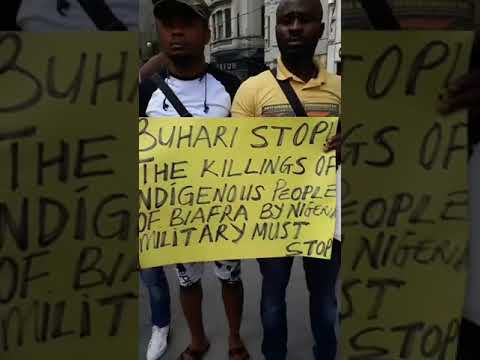 ATTENTION:WATCH AS BIAFRAN'S IN TURKEY PROTEST TO THE WORLD