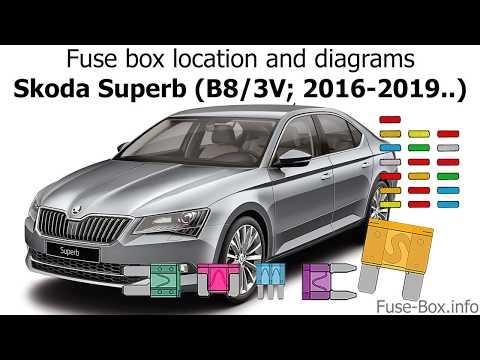 skoda superb estate fuse box fuse box location and diagrams skoda superb  b8 3v  2016 2019  fuse box location and diagrams skoda
