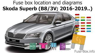 Fuse box location and diagrams: Skoda Superb (B8/3V; 2016-2019..) - YouTube  YouTube