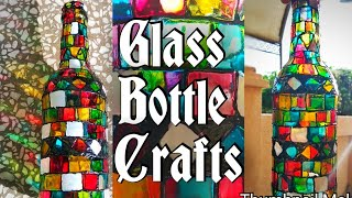 #DIY Bottle Glass Painting   #Glass Bottle Art #Mosaic Painting on Glass bottle