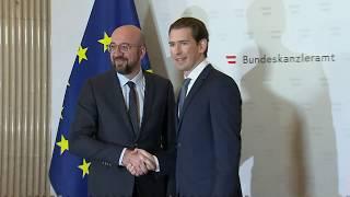 President Michel Meets Sebastian Kurz In Austria