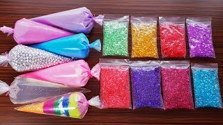 Making Slime With Piping Bags And Slushie Beads