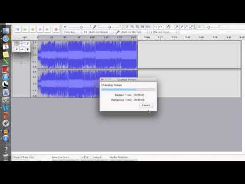 Changing BPM Audacity- Catherine's Project