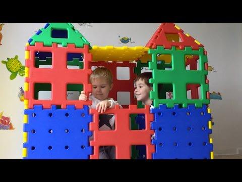 Building A Large Castle With XL Polydron Construction Set