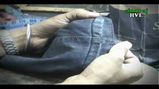 the way how to cut and sew the original jean s hem back