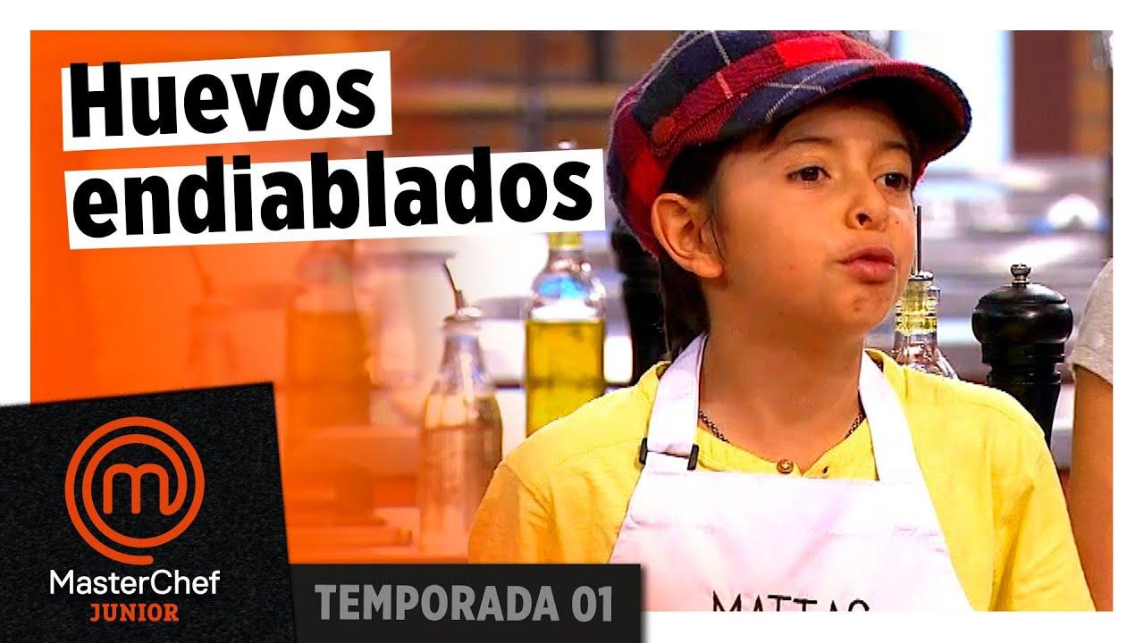 Huevos rellenos en la prueba de eliminación | TEMP 1 |MASTERCHEF JUNIOR COLOMBIA