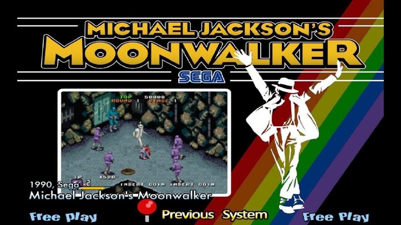 moonwalker arcade machine
