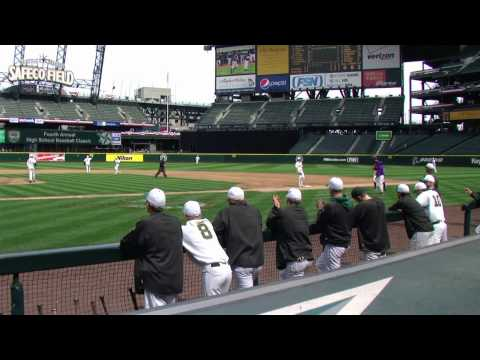 Ian Buckles pitching at Safeco (Camera in 1st base...