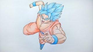 Drawing Goku Super Saiyan Blue | Speed Drawing