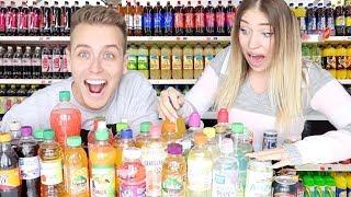 Ich kaufe ALLE GETRÄNKE aus dem Supermarkt (& mixe sie! ) | Julienco