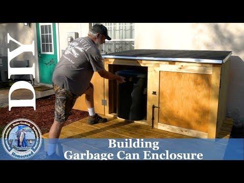 Building a Garbage Can Enclosure
