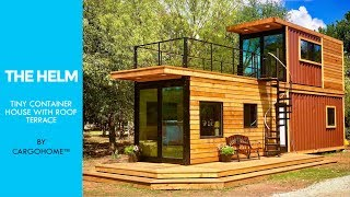 The Helm: Cargohome™tiny Container Airbnb With Roof Terrace