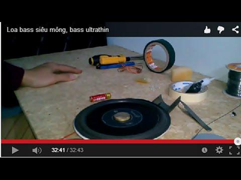 Loa bass siêu mỏng, bass ultrathin