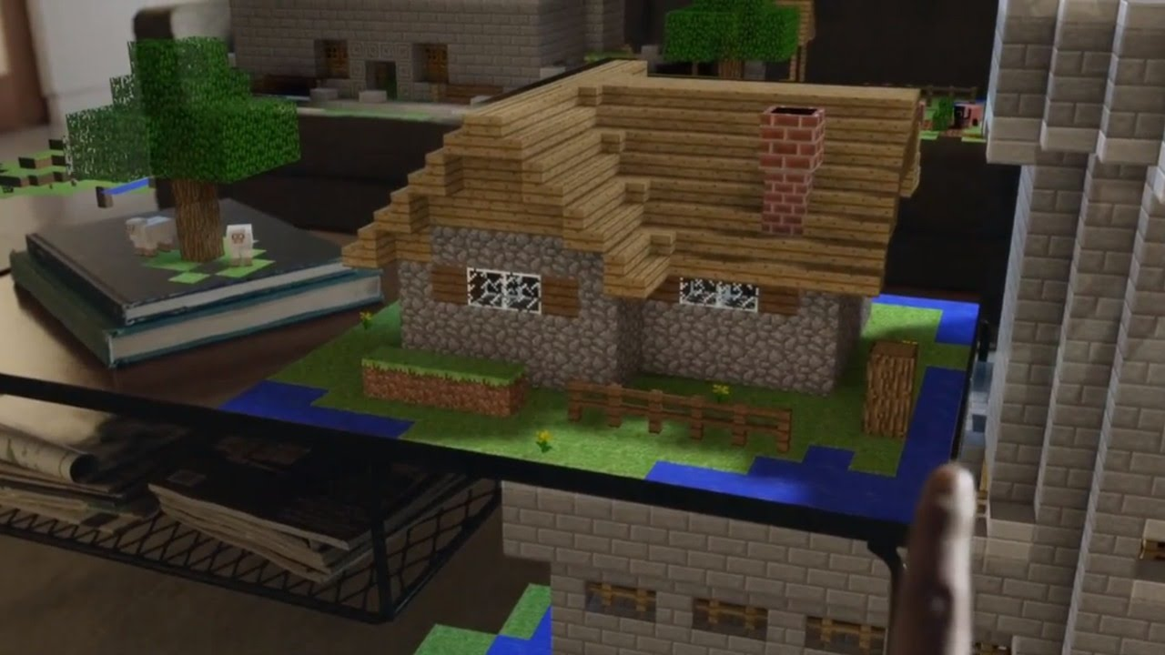 Microsoft hololens demonstration shows off holographic minecraft apps