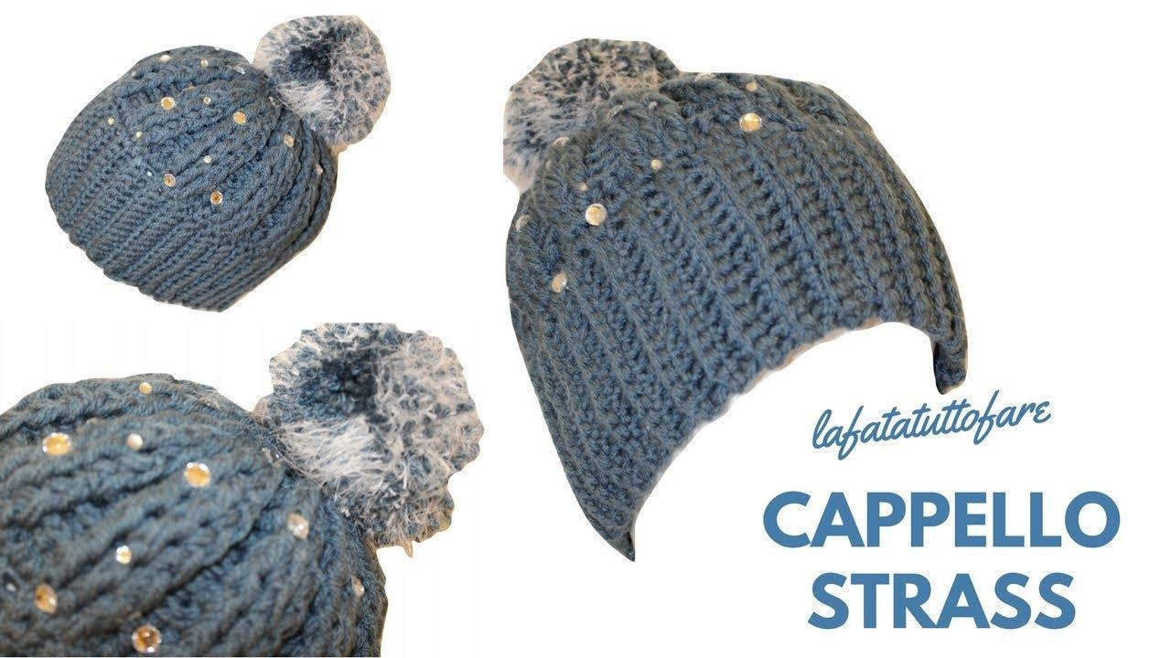 materiali di alta qualità il più votato genuino codice promozionale TUTORIAL: cappello con strass/ cappello uncinetto/  berretto***lafatatuttofare***