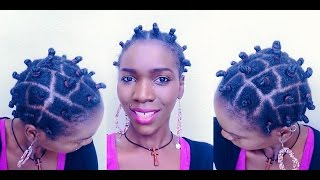 Bantu knots on Short/Medium 4C Natural Hair using Ampro Protein Clear Gel