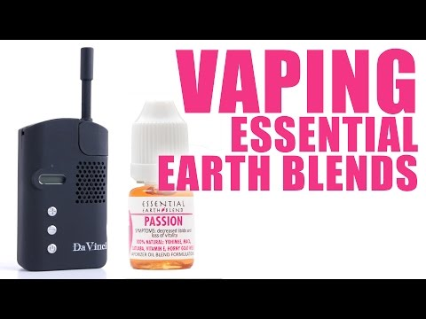 You Can Vape What?! - How to Vape Essential Earth Blends with the DaVinci Vaporizer