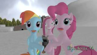 Pinkie Pie and Rainbow Dash get lost in The Cupcakes Ice Age A.D. 2654