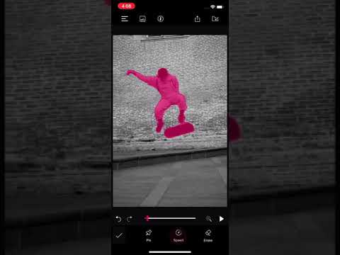 How to apply CameraFX effects in still photos using PixaMotion iOS App