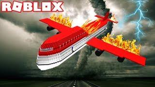 ROBLOX SURVIVE A PLANE CRASH ON FIRE !