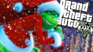 THE NEW GRINCH BECOMES SANTA MOD (GTA 5 PC Mods Gameplay)