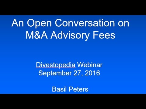 An Open Conversation on M&A Advisory Fees