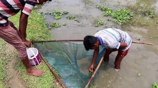 traditional village fishing in asia