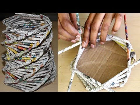 Just Simple 3 Steps to make Paper Basket at Home - Best Out Of Waste - DIY Creative Ideas