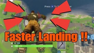 How to land faster in fortnite battle royal