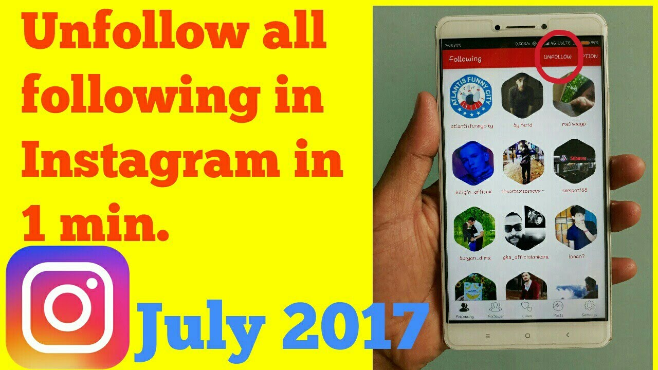how to unfollow all following on instagram in 1 minute authentic working  method