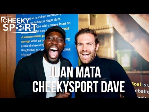 CheekySport Dave Interviews Juan Mata | MUST WATCH | Man United v Huddersfield | Common Goal