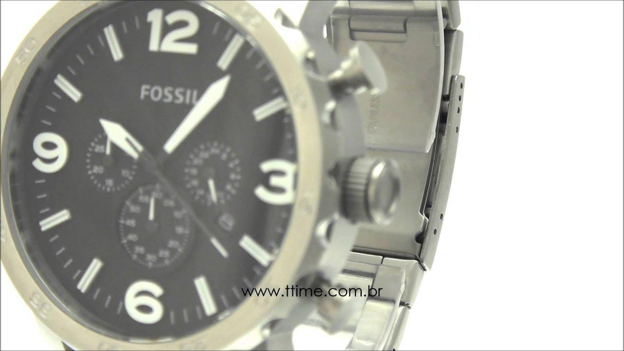 92bc21b36e75c Relógio Fossil Nate FJR1353 Z - YouTube