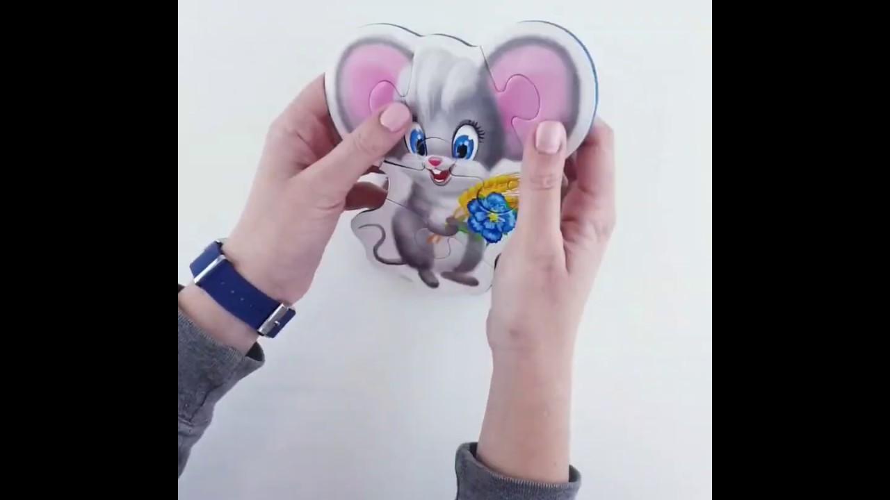 Vladi Toys VT1106-05 Мягкие пазлы Baby puzzle Пушистики