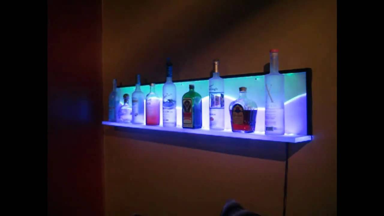 Superior Custom LED Floating Wall Shelf   YouTube
