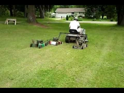 Mow The Lawn Faster Pull Behind Riding Mower No Zero Turn