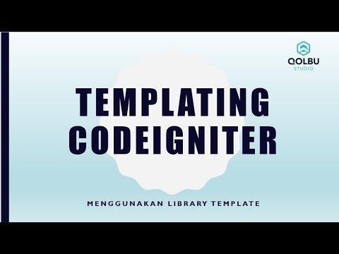 Cara Menggunakan Library Template Codeigniter